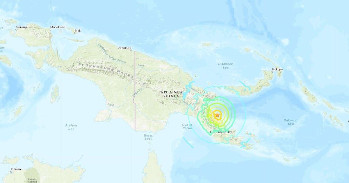 Ισχυρός σεισμός 7 Ρίχτερ στην Παπούα Νέα Γουινέα
