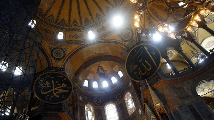 Τα σχέδια για την κάλυψη των αγιογραφιών και των ψηφιδωτών παρουσιάζονται στον Ερντογάν