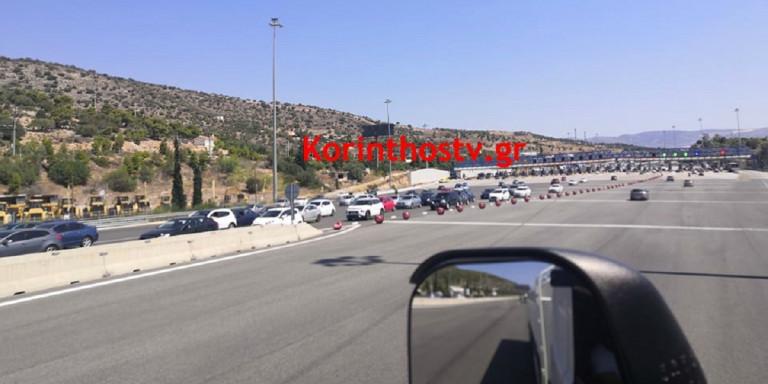 Εθνική Αθηνών-Κορίνθου: Ουρές χιλιομέτρων από αυτοκίνητα | ΕΛΛΑΔΑ
