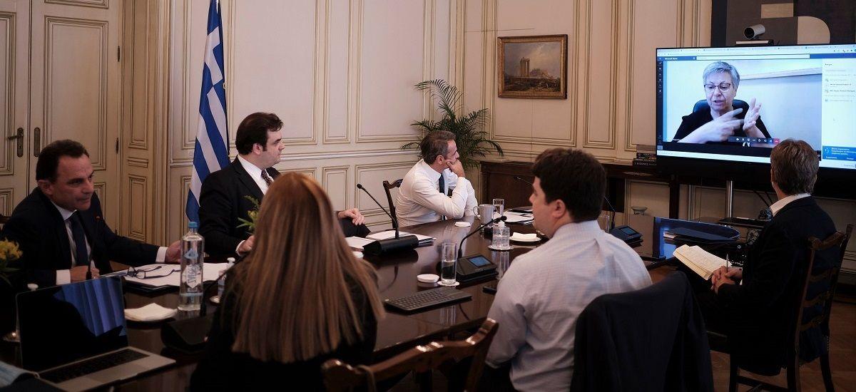 Τηλεδιάσκεψη υπό τον Μητσοτάκη για την ψηφιακή παροχή υπηρεσιών των ΚΕΠ (pics)