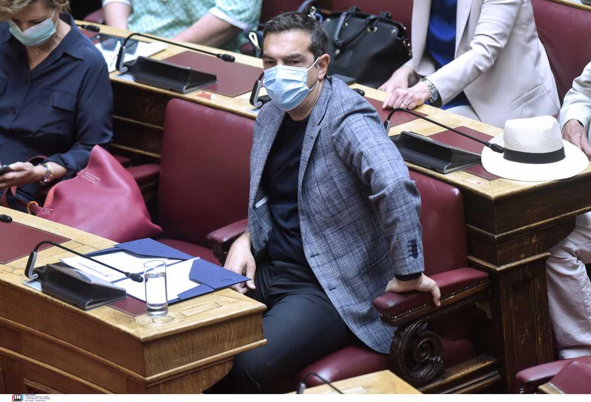 Παρέμβαση Τσίπρα στην Βουλή