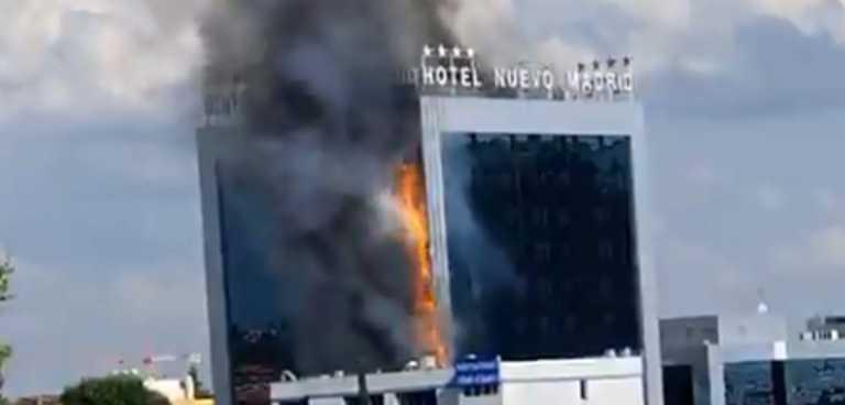 Μεγάλη φωτιά σε ξενοδοχείο στη Μαδρίτη! Οι πρώτες εικόνες
