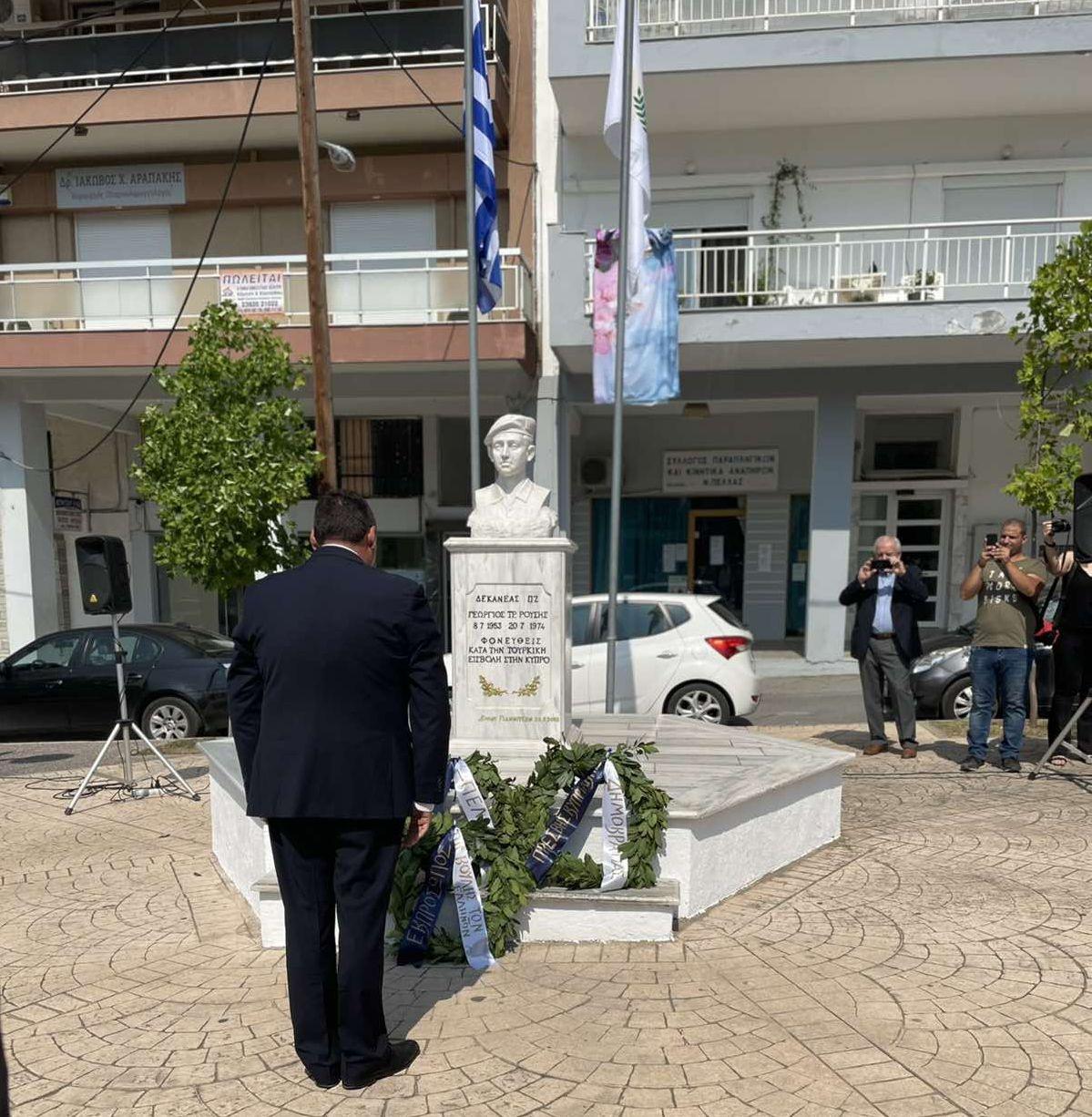Ο Πρέσβης της Κύπρου στα Γιαννιτσά