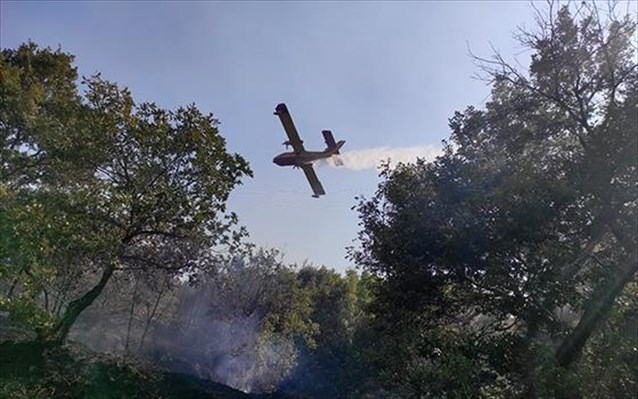 Ενισχύονται οι επίγειες δυνάμεις για την κατάσβεση της πυρκαγιάς