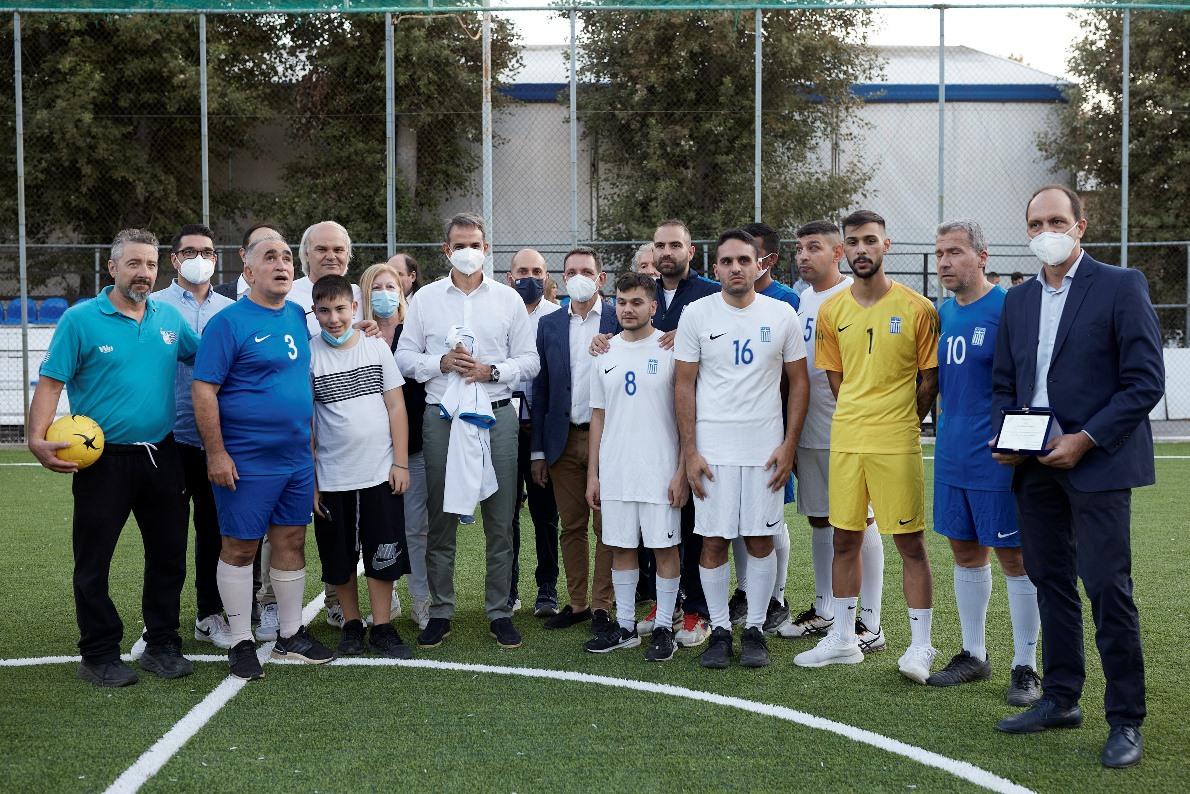 Μητσοτάκης: Στο πλευρό της εθνικής ομάδας ποδοσφαίρου Τυφλών