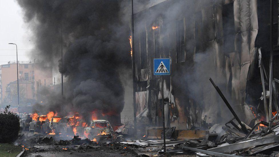 Πτώση αεροσκάφους στο Μιλάνο – Ενας από τους πλουσιότερους Ρουμάνους μεταξύ των οκτώ θυμάτων
